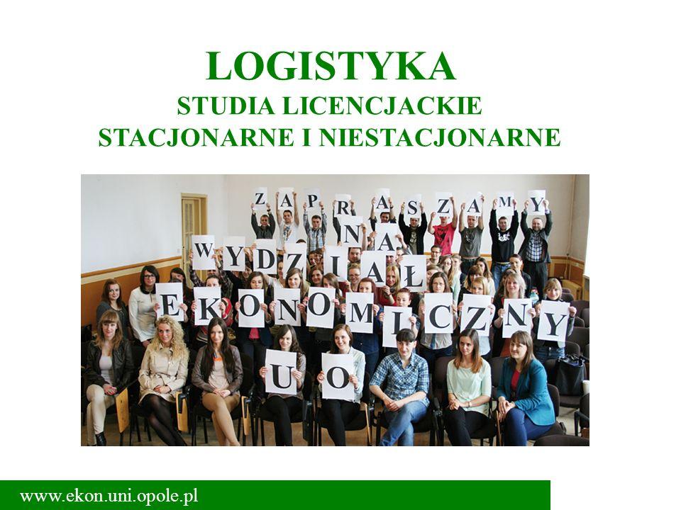 LOGISTYKA STUDIA LICENCJACKIE STACJONARNE I NIESTACJONARNE www.ekon.uni.opole.pl