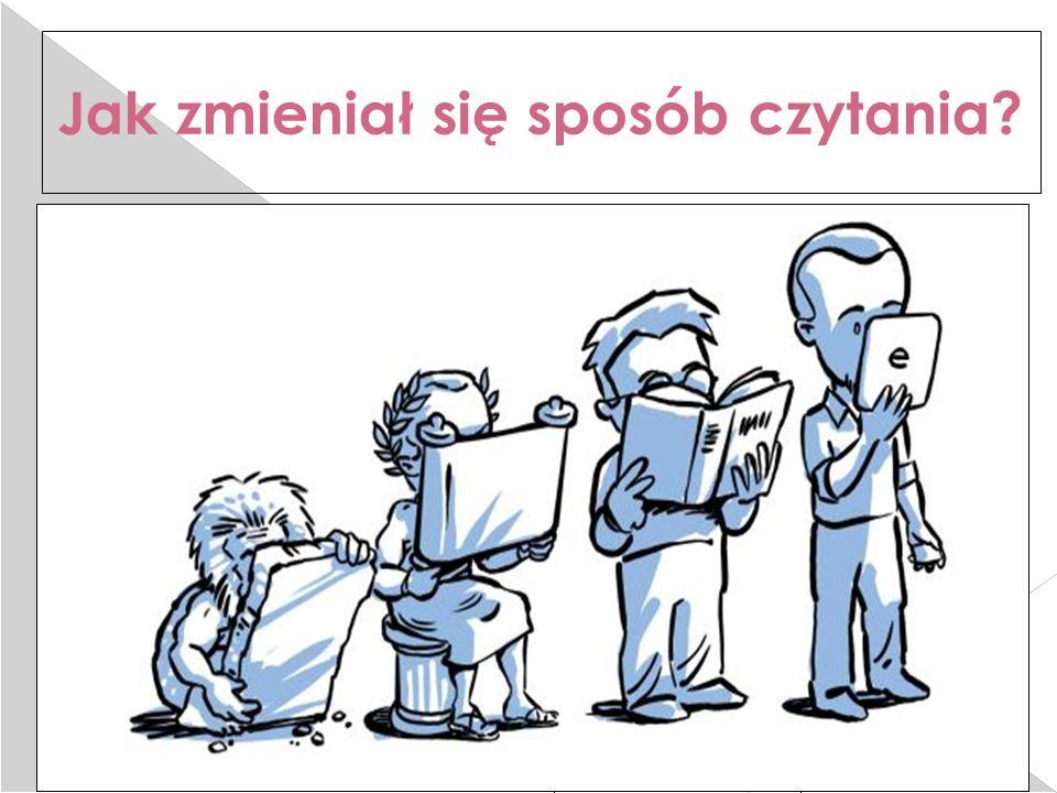 25.2.16 Jak zmieniał się sposób czytania  TAK WYGLADA HISTORIA CZYTELNICTWA…