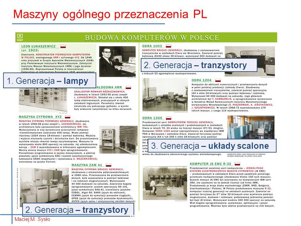 1. Generacja – lampy 2. Generacja – tranzystory 3.