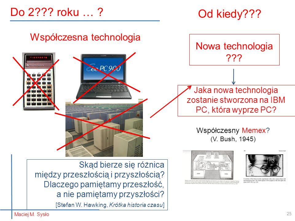 Od kiedy . Nowa technologia .