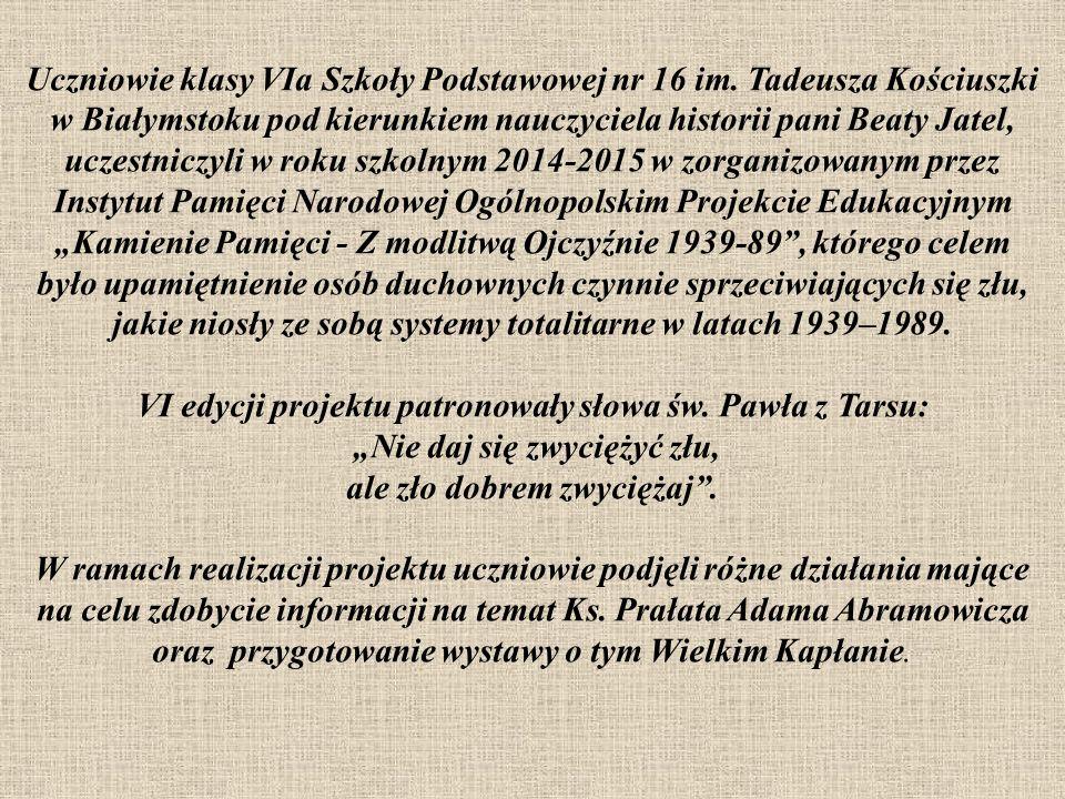 Uczniowie klasy VIa Szkoły Podstawowej nr 16 im.