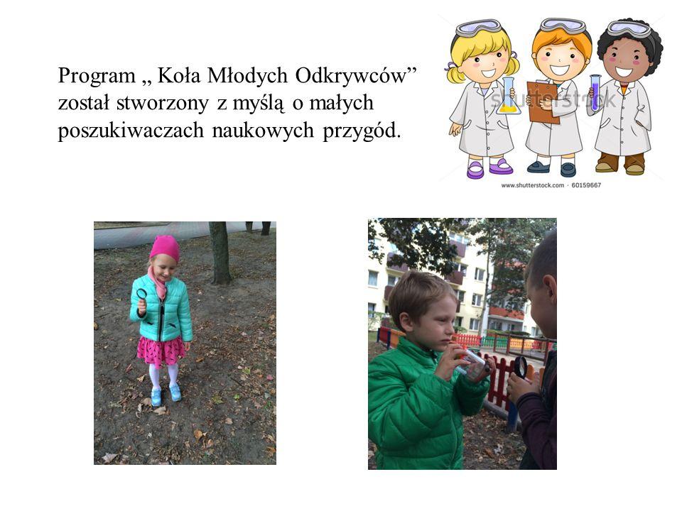 """Program """" Koła Młodych Odkrywców"""" został stworzony z myślą o małych poszukiwaczach naukowych przygód."""
