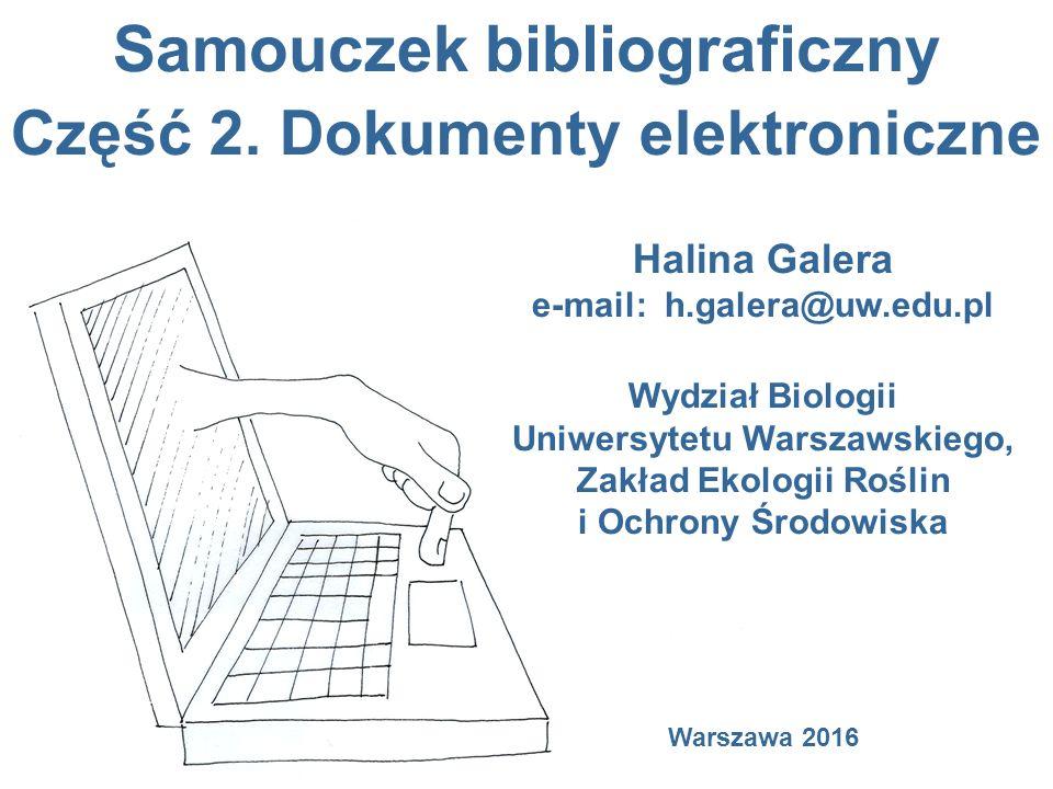 Samouczek bibliograficzny Część 2.