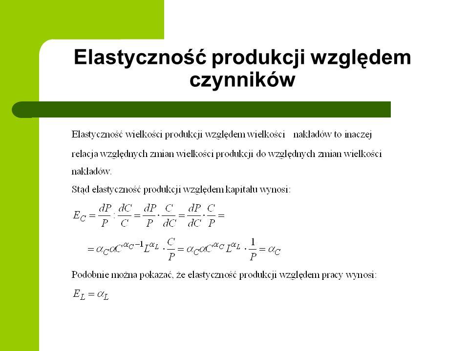 Elastyczność produkcji względem czynników