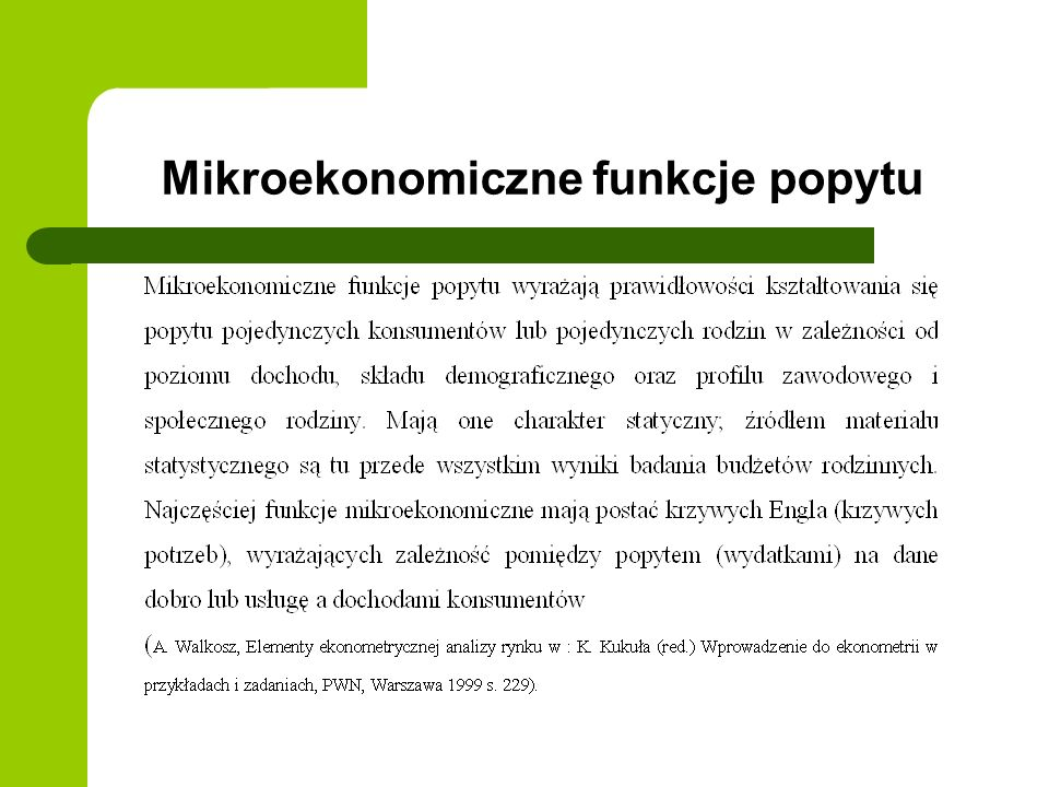 Mikroekonomiczne funkcje popytu
