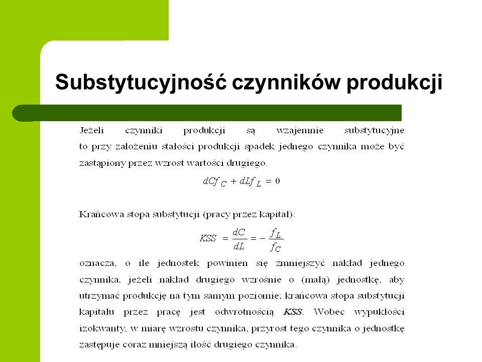 Elastyczność czynników względem produkcji