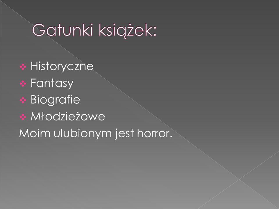 Biała wiedźma Adam Zalewski To Stephen King