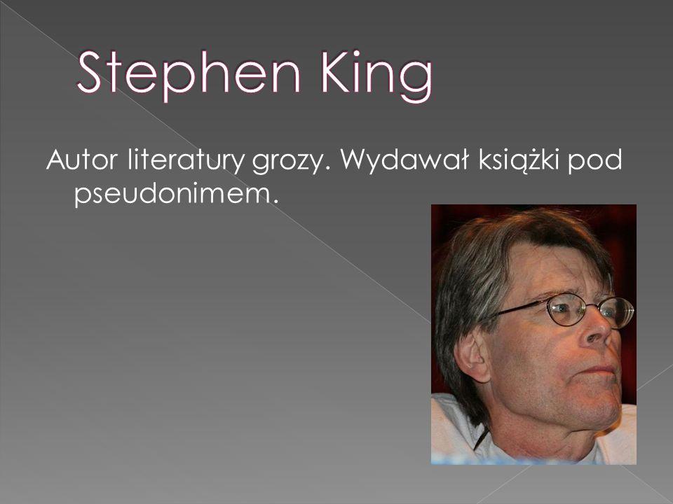 Autor literatury grozy. Wydawał książki pod pseudonimem.