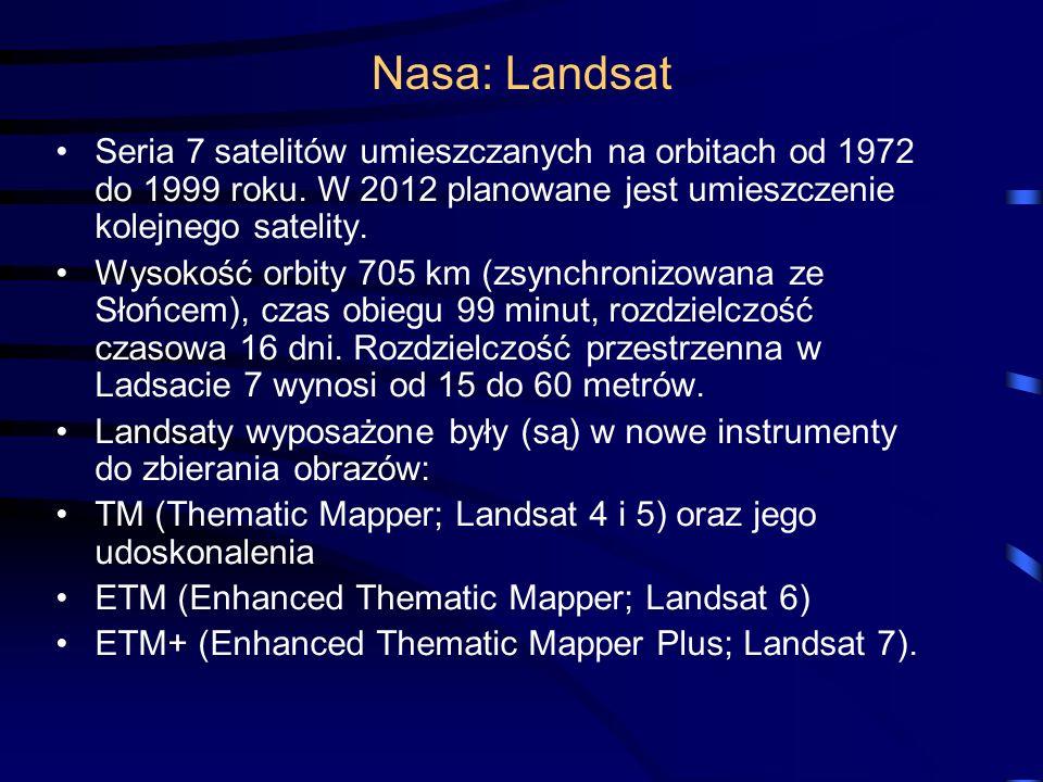 Nasa: Landsat Seria 7 satelitów umieszczanych na orbitach od 1972 do 1999 roku.