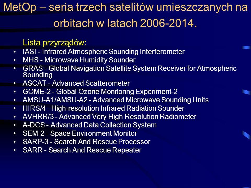 MetOp – seria trzech satelitów umieszczanych na orbitach w latach 2006-2014.