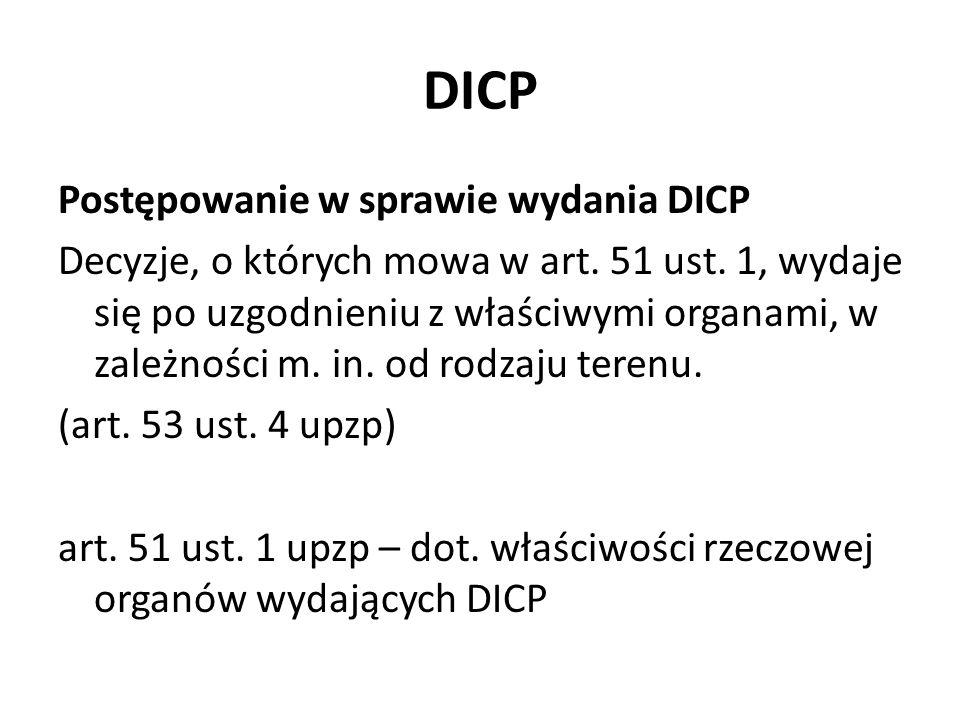 DICP Postępowanie w sprawie wydania DICP Decyzje, o których mowa w art.