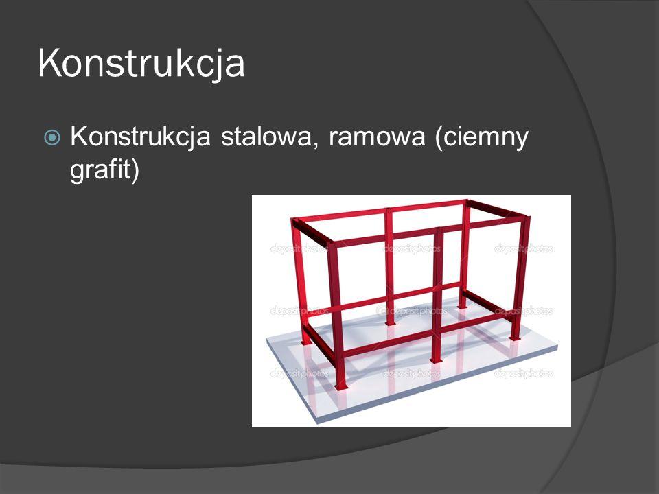 Konstrukcja  Konstrukcja stalowa, ramowa (ciemny grafit)
