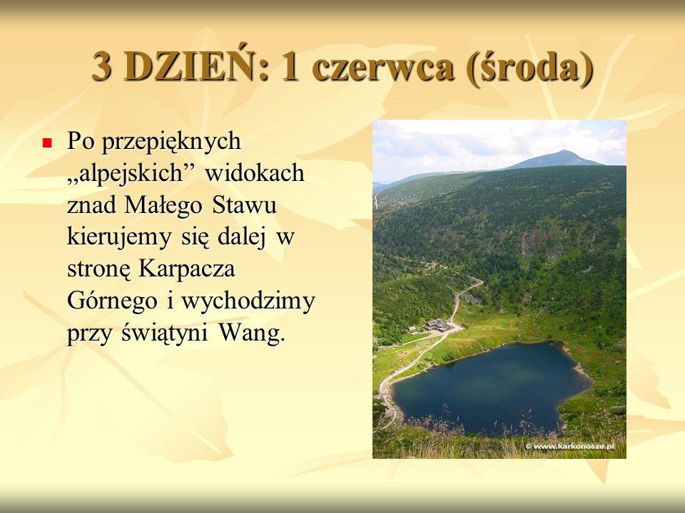 """Po przepięknych """"alpejskich widokach znad Małego Stawu kierujemy się dalej w stronę Karpacza Górnego i wychodzimy przy świątyni Wang."""