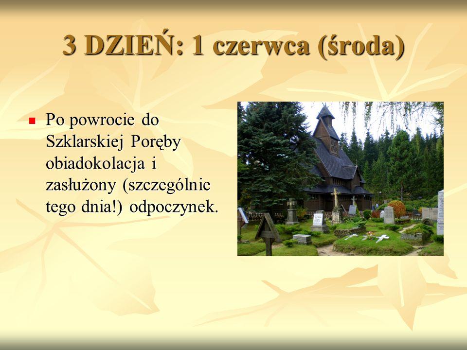 Po powrocie do Szklarskiej Poręby obiadokolacja i zasłużony (szczególnie tego dnia!) odpoczynek.