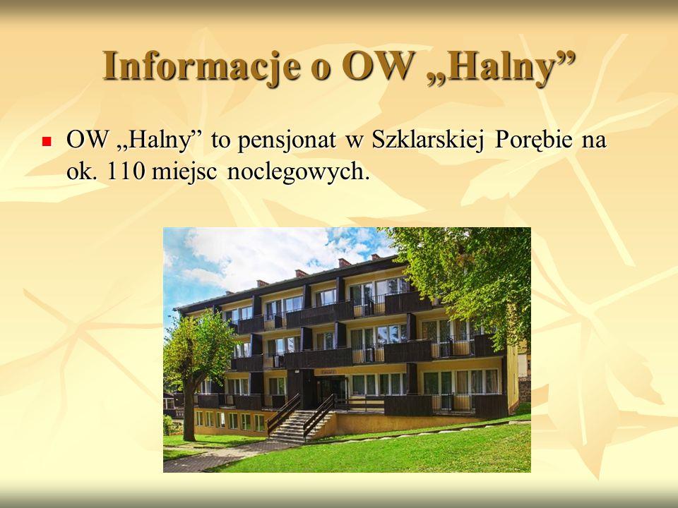 """Informacje o OW """"Halny OW """"Halny to pensjonat w Szklarskiej Porębie na ok."""