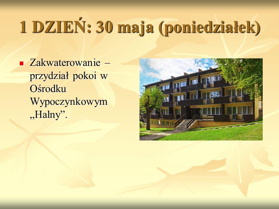 1 DZIEŃ: 30 maja (poniedziałek) Następnie piesza wycieczka nad wodospad Kamieńczyk w Szklarskiej Porębie – najwyższy wodospad w Karkonoszach.