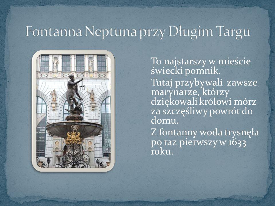 To najstarszy w mieście świecki pomnik.