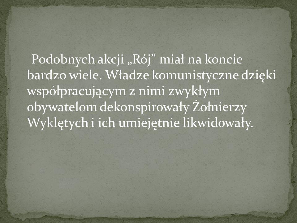 """24 IX 1947 r.patrol """"Roja wykonał akcję propagandową w miejscowości Zielona (gm."""