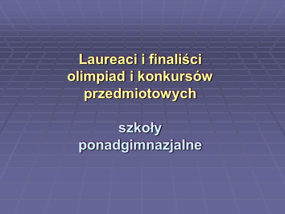 Krzysztof Podeszwa, Zespół Szkół nr 2 finalista Olimpiady Geograficznej