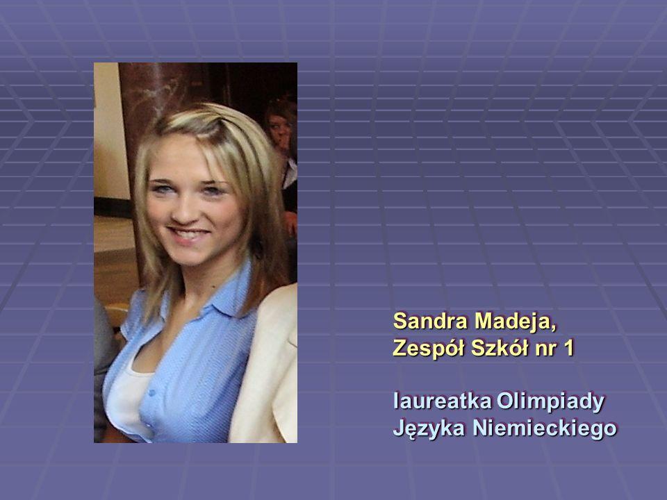 Sandra Madeja, Zespół Szkół nr 1 laureatka Olimpiady Języka Niemieckiego
