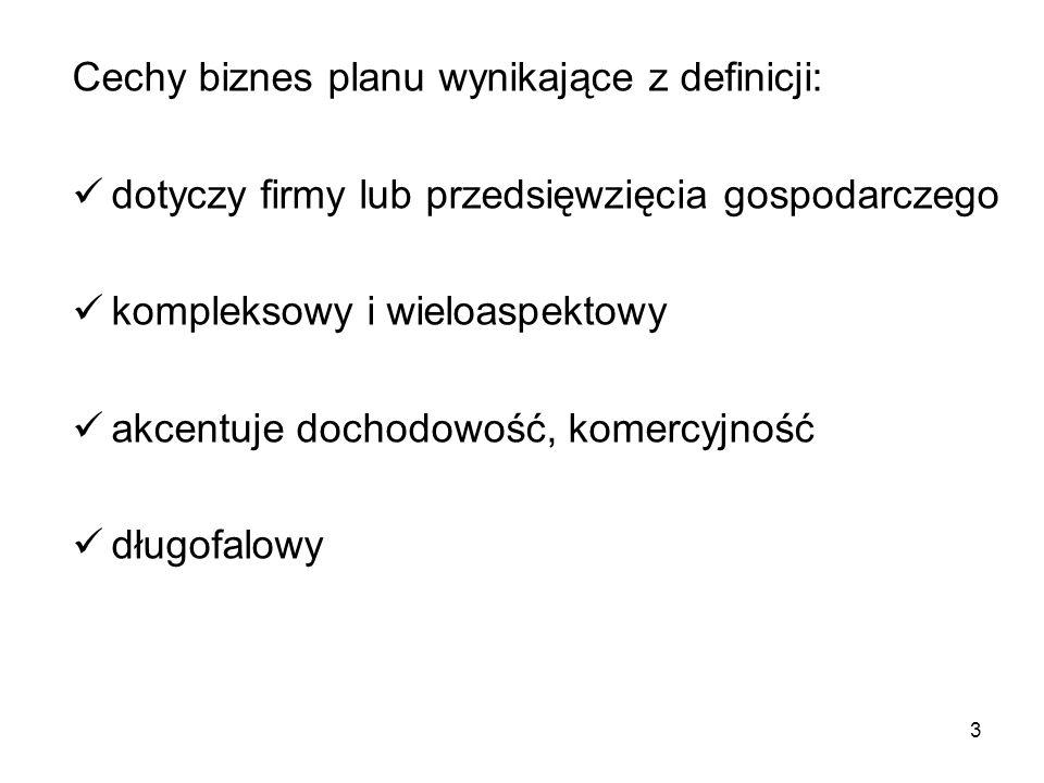 """14 Żródło: Z.Pawlak """" Biznesplan."""