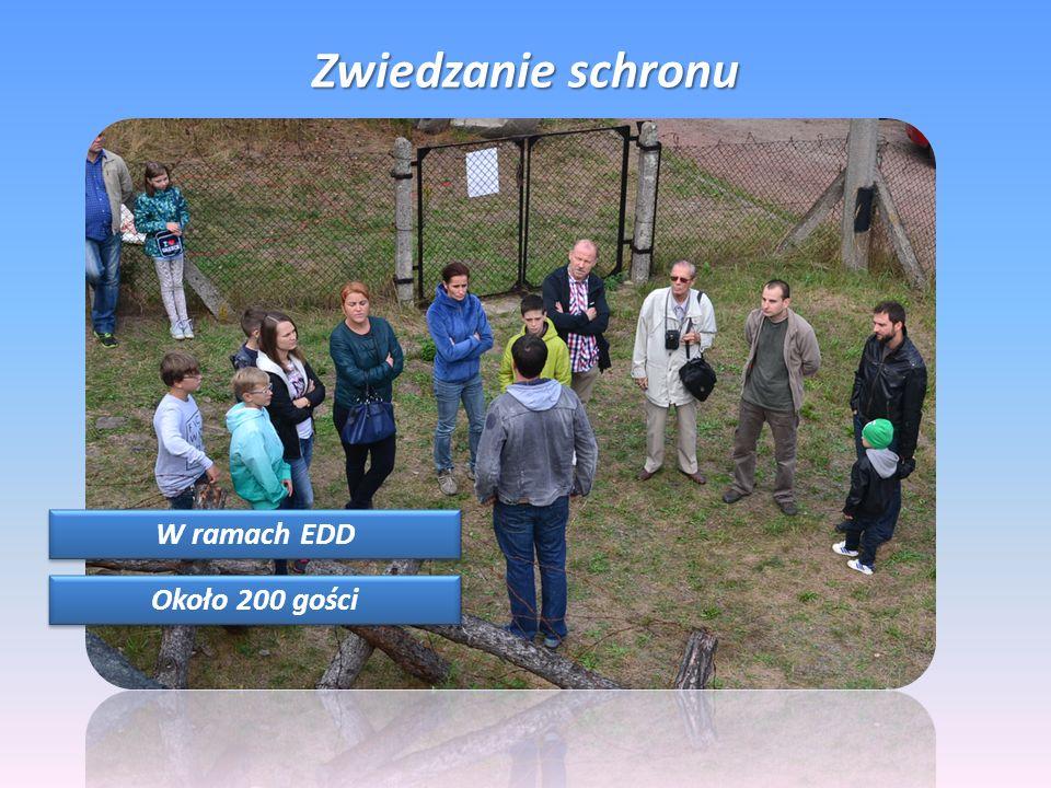 Zwiedzanie schronu W ramach EDD Około 200 gości