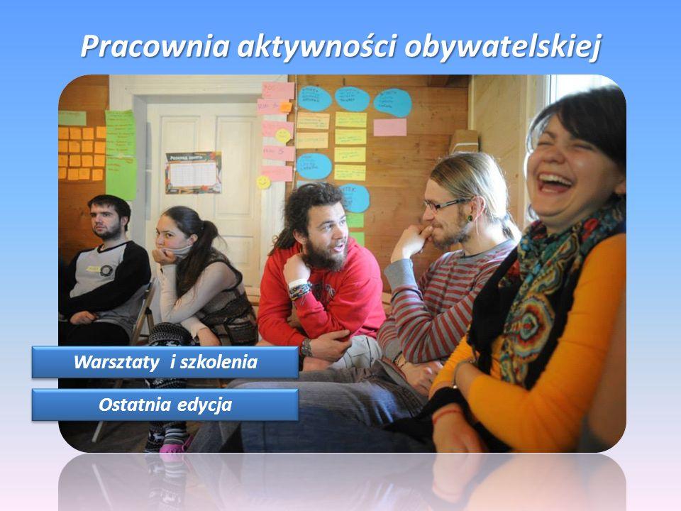Pracownia aktywności obywatelskiej Warsztaty i szkolenia Ostatnia edycja