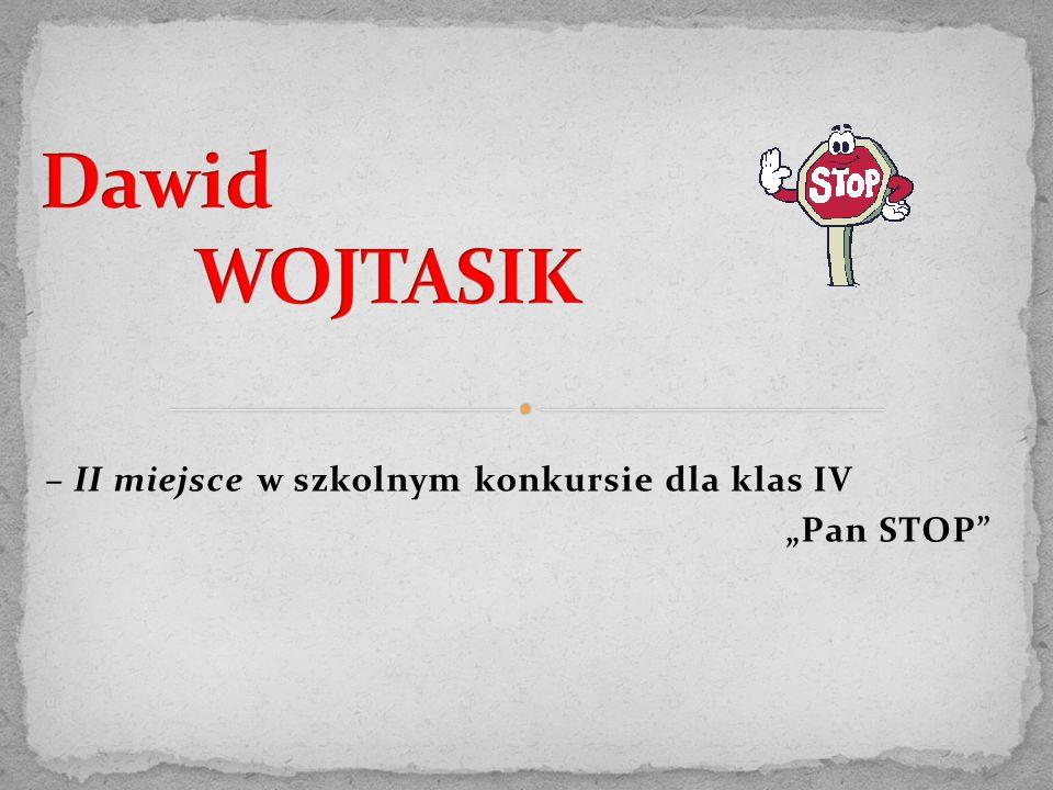 """– II miejsce w szkolnym konkursie dla klas IV """"Pan STOP"""""""