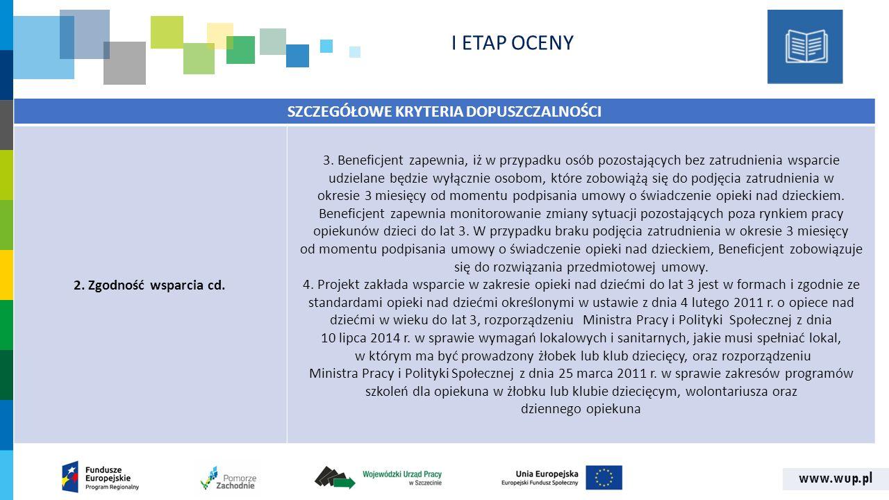 www.wup.pl SZCZEGÓŁOWE KRYTERIA DOPUSZCZALNOŚCI 2.