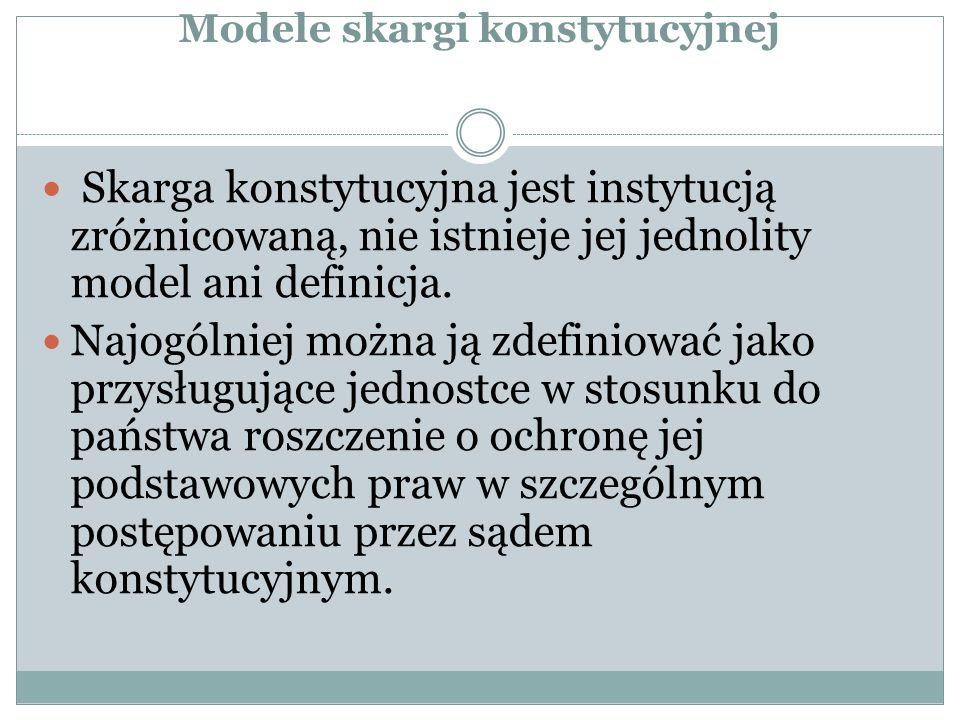 """Zakres podmiotowy skargi konstytucyjnej Prawo to przysługuje zatem """"każdemu , a więc nie jest związane z faktem posiadania obywatelstwa polskiego przez skarżącego."""