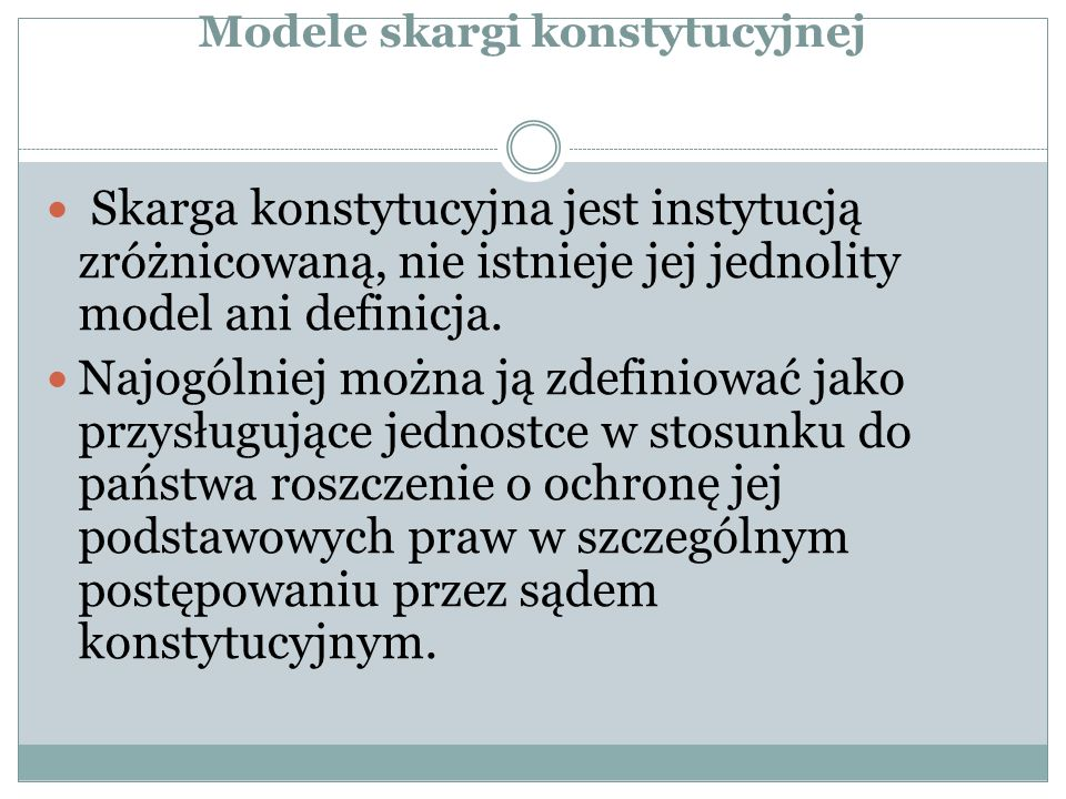 Postulaty de lege ferenda fundamentali pod adresem polskiego modelu s.k.
