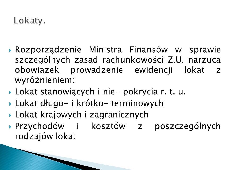 Rozporządzenie Ministra Finansów w sprawie szczególnych zasad rachunkowości Z.U.