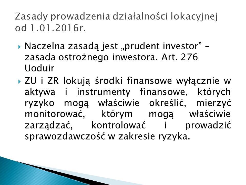 """ Naczelna zasadą jest """"prudent investor – zasada ostrożnego inwestora."""