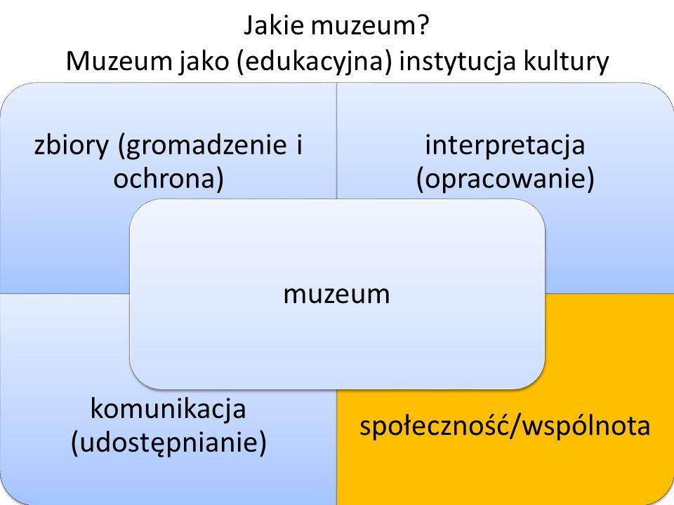 Muzeum jako instytucja kultury Jak zaangażować społeczność, której służysz, we wszystko co robisz w Twoim muzeum?