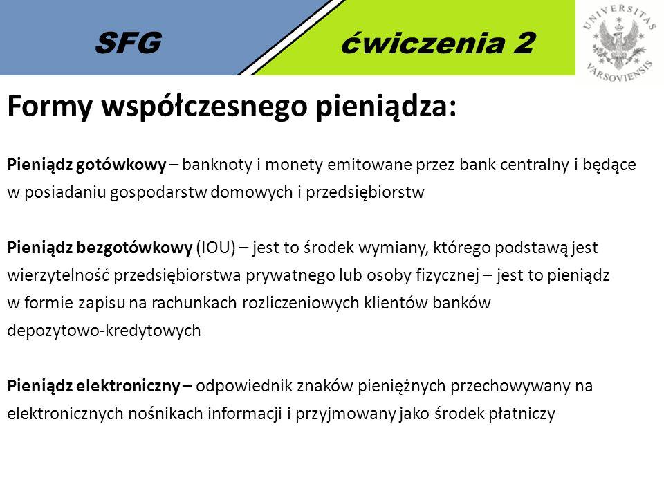 8 SFGćwiczenia 2 Pieniądz w Polsce: Art.