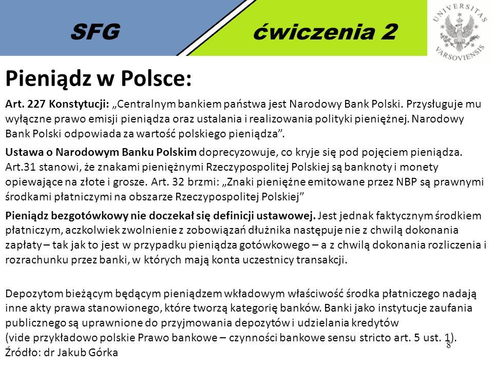 9 SFGćwiczenia 2 Pieniądz elektroniczny: Ustawa z 12 września 2002 r.
