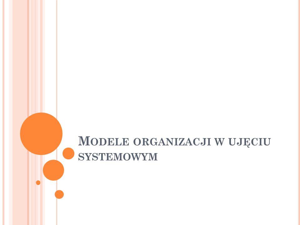 M ODELE ORGANIZACJI W UJĘCIU SYSTEMOWYM