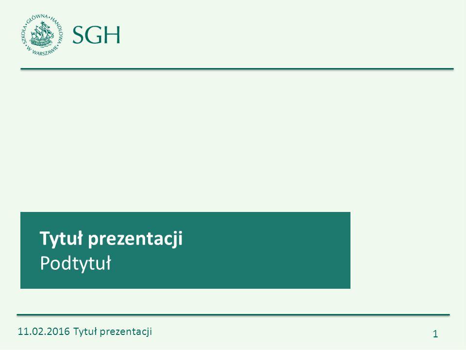 11.02.2016 Tytuł prezentacji 2 Tytuł działu prezentacji Nieprzerwanie od 1906 r.