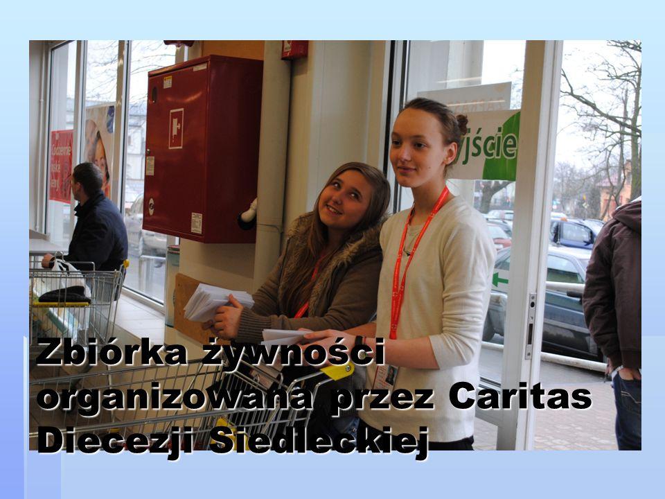 Zbiórka żywności organizowana przez Caritas Diecezji Siedleckiej