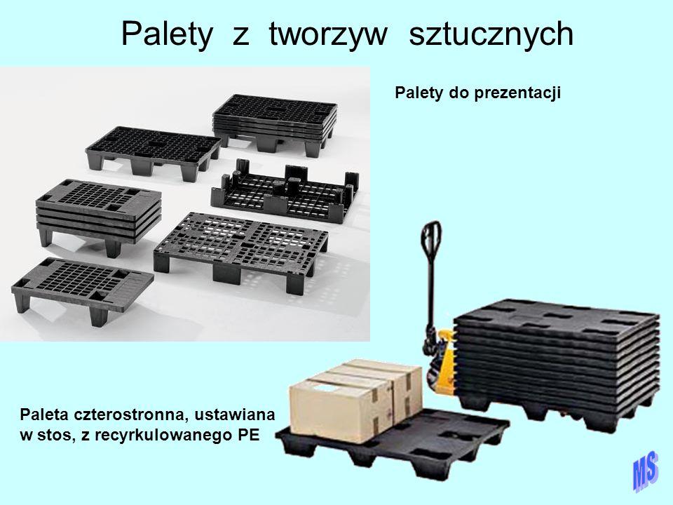 Palety z tworzyw sztucznych Paleta czterostronna, ustawiana w stos, z recyrkulowanego PE Palety do prezentacji