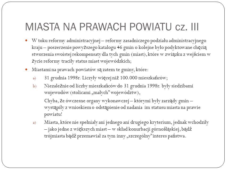 MIASTA NA PRAWACH POWIATU cz.