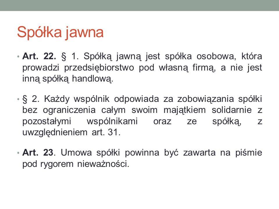 Spółka jawna Art.24. § 1.