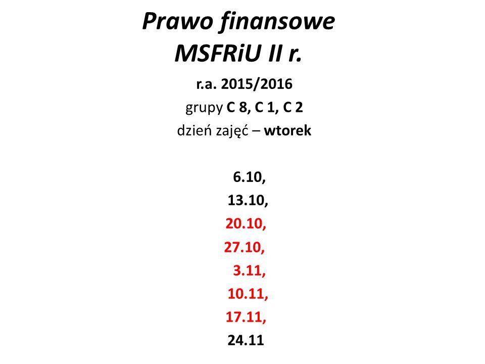 1/ PRAWO FINANSÓW PUBLICZNYCH 20.10.2015 r.1.