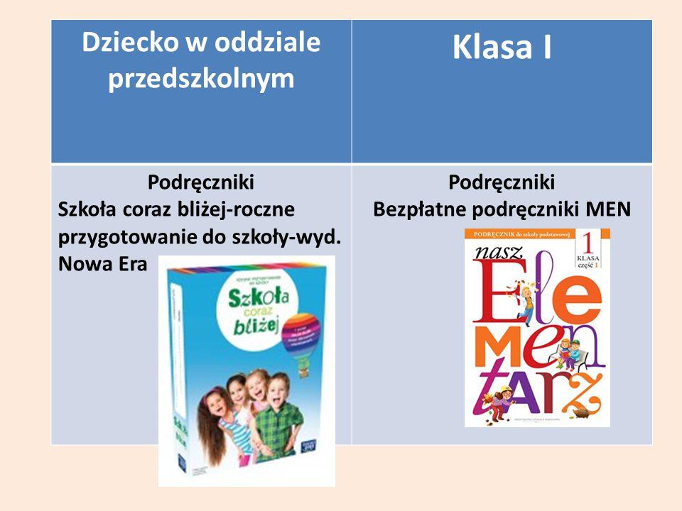 Dziecko w oddziale przedszkolnym Klasa I Podręczniki Szkoła coraz bliżej-roczne przygotowanie do szkoły-wyd.