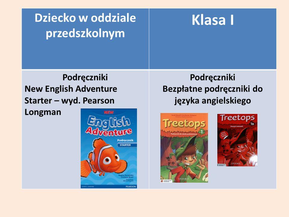 Dziecko w oddziale przedszkolnym Klasa I Podręczniki New English Adventure Starter – wyd.