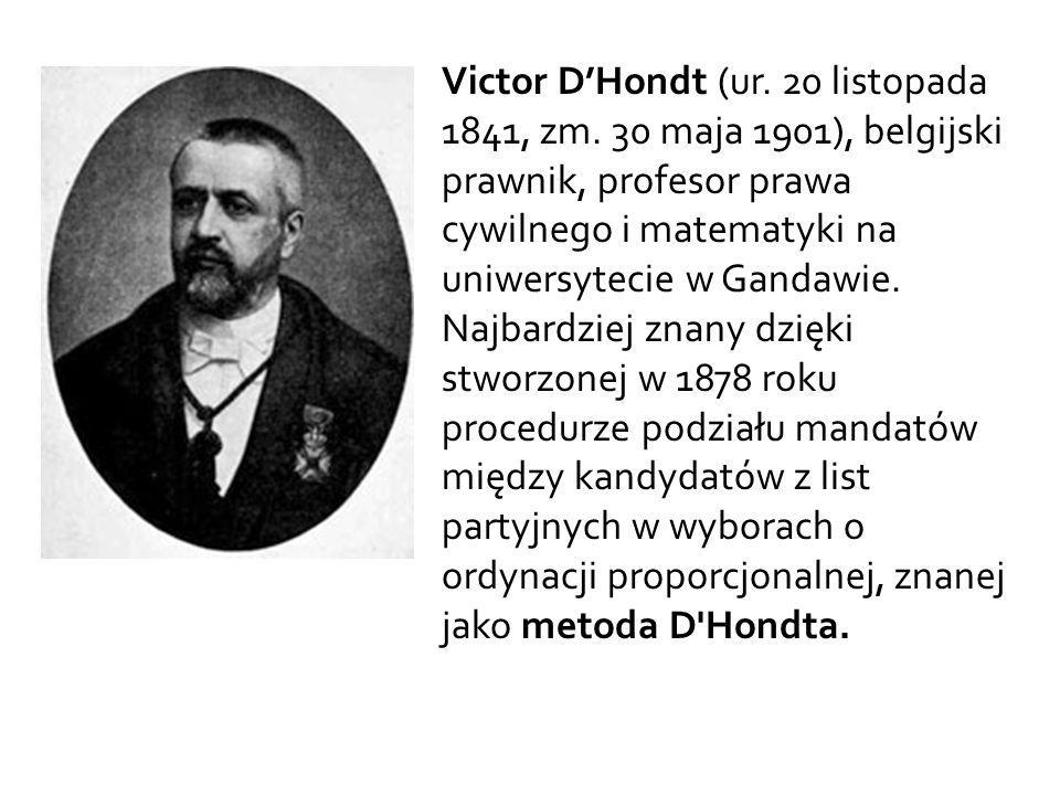 Victor D'Hondt (ur.20 listopada 1841, zm.