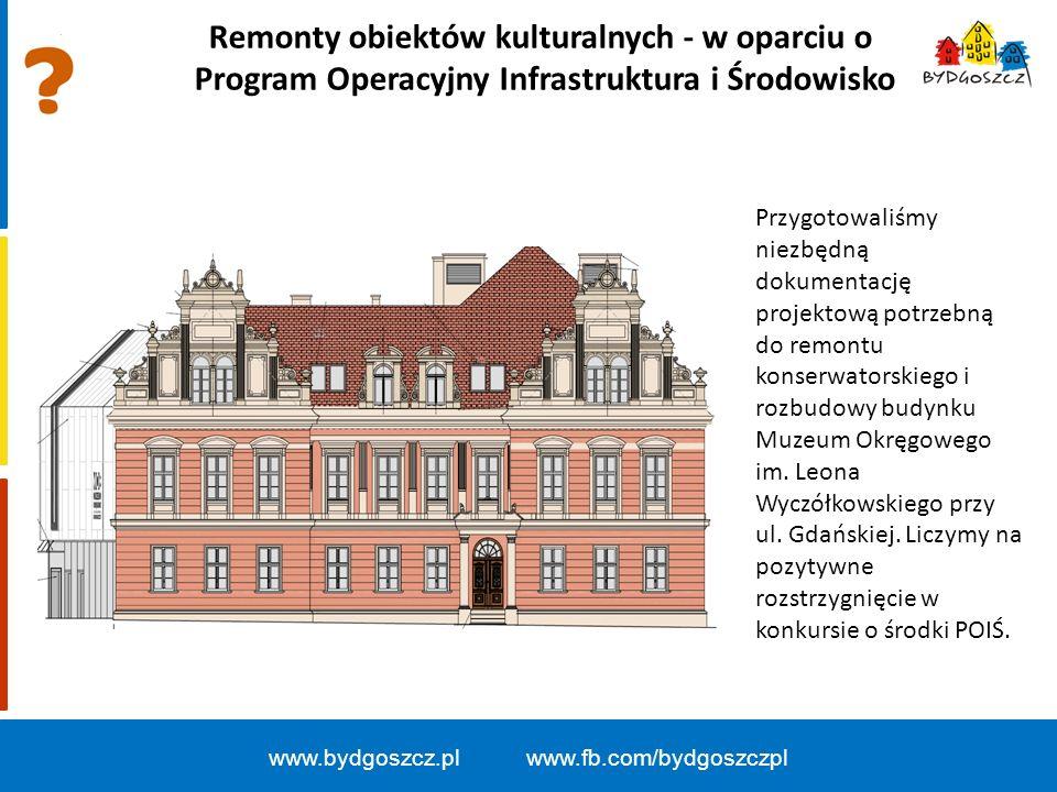 Remonty obiektów kulturalnych - w oparciu o Program Operacyjny Infrastruktura i Środowisko Przygotowaliśmy niezbędną dokumentację projektową potrzebną do remontu konserwatorskiego i rozbudowy budynku Muzeum Okręgowego im.