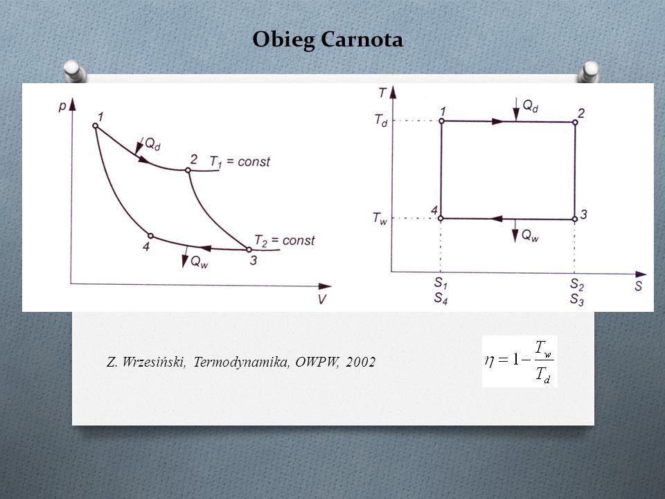 Obieg Carnota Z. Wrzesiński, Termodynamika, OWPW, 2002