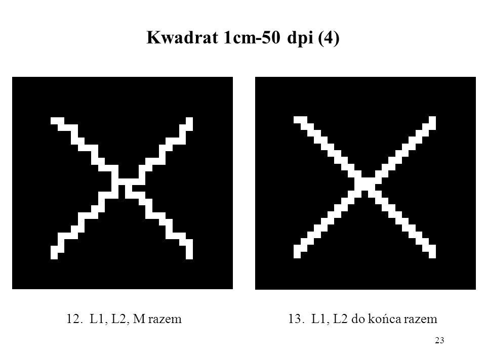 23 Kwadrat 1cm-50 dpi (4) 13. L1, L2 do końca razem12. L1, L2, M razem