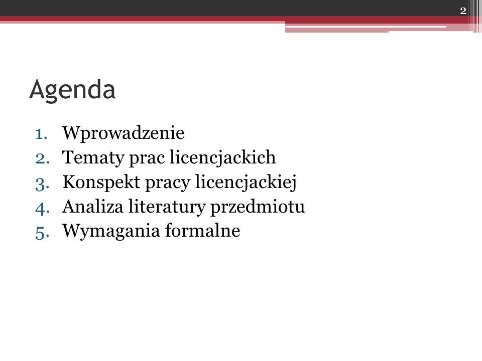 Zakres tematyczny seminarium Marketing …. 23